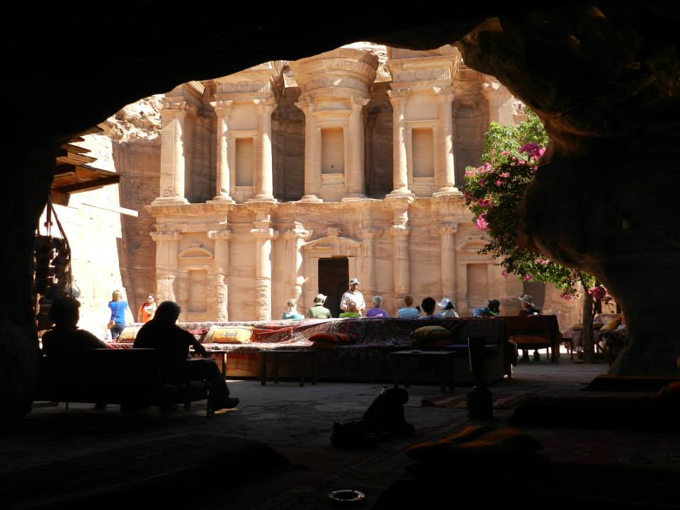Petra – Ad Deir from inside a cave